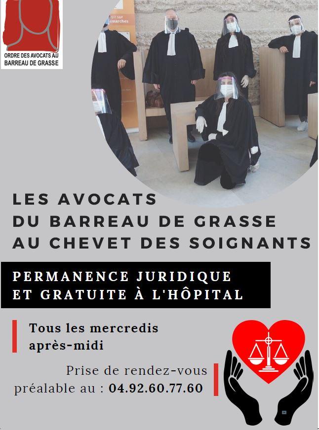 """CANNES """"Solidarité du Barreau de Grasse et du CDAD avec le personnel soignant"""" """"Les avocats du Barreau de Grasse au chevet du personnel soignant"""""""