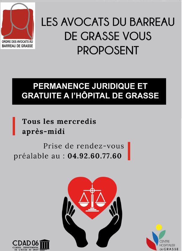 """GRASSE""""Solidarité du Barreau de Grasse et du CDAD avec le personnel soignant"""" """"Les avocats du Barreau de Grasse au chevet du personnel soignant"""""""